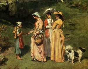 The-Young-Ladies-of-the-Village-Giving-Alms-to-a-Cowherd-by-G.Courbet-1852