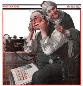Old Radio Norman Rockwell